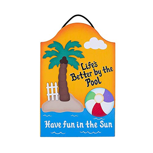 Not Branded Outdoor Pool Schild Lifes Better by The Pool 814705