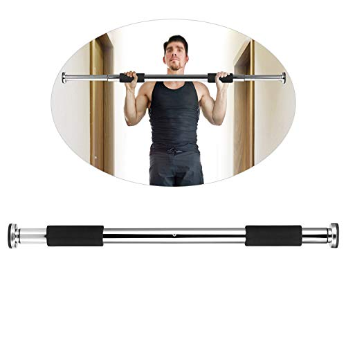Lixada Adjustable Doorway Pull Up Bar Fitness Door Way Chin Up Bar Horizontal Bar Home Gym Exercise Fitness Body Workout Equipment 100KG Bearing for Home Gym Exercise Fitness
