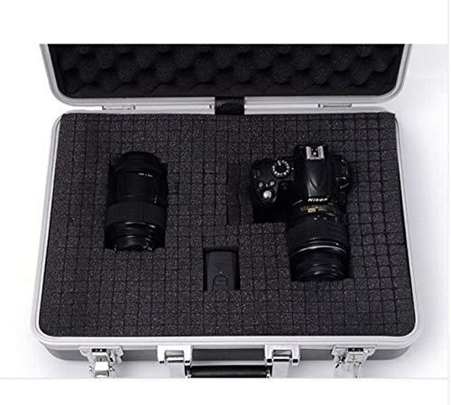Toolbox LKU Aluminium Tool Box koffer Tool Box File Box slagvast veiligheidskist Camera Cover L450W325H135MM Zilver met schuim