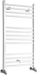 Riscaldamento ad Acqua Calda 379W Alluminio Antracite 790 x 500mm Hudson Reed Gradus Scaldasalviette Moderno di Design Termoarredo Bagno Contemporaneo a Scaletta