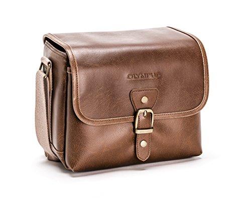 Olympus Tracker Klassisches Design Vintage Kameratasche (braun)