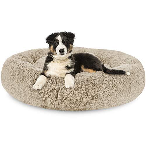 G.C Cama Antiestres Perro Grande, Cama Relajante Ortopedica para Perros Gattos Sofá Redondo Suave de Felpa Invierno Cueva para Mascotas Lavable (XL(81 x 61 x 20 cm))