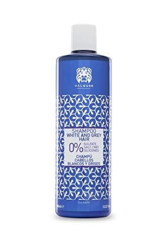 Válquer Profesional Champú Cabellos blancos y grises % sin sal, sin sulfatos, sin parabenos y sin Siliconas - 400 ml