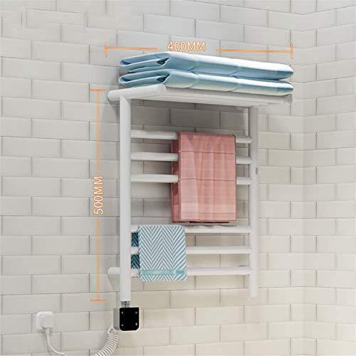 Toallero Eléctrico Calentador de toallas, toalla eléctrica Rack con termostato Esterilización de secado térmico rápido IPX4 Actualización impermeable Termostato Cuatro Modo de control de temperatura F