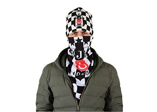 Gök-Türk Unisex Zwart masker + muts mondbescherming voor fietsen Anti-stof gezichtsmasker voor voetbalfans Besiktas
