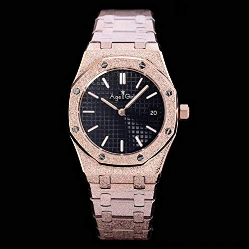 CHQSMZ Montres mécaniques Nouvelles Femmes Lady Watch Girl Sapphire Matte INOX Steel Luminous Watches Royal Oak Rose Gold Black Blue Grey AAA+ 4