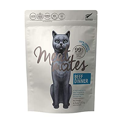 Meat Mates Beef Dinner, Grain-Free Freeze Dried Cat Food 4.5oz