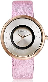 Rebirth Casual Watch For Women Analog Leather - J2191- pink