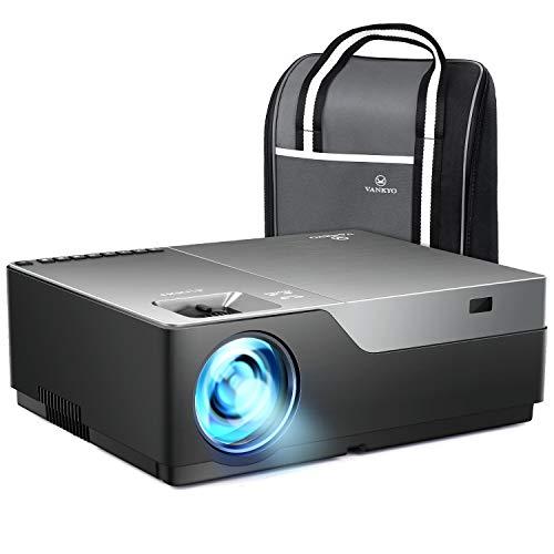Vankyo 1080pフルHDプロジェクターV600 データプロジェクター 5500ルーメン 1920×1080ネイティブ解像度 4KフルHD対応 300インチ 大画面 高コントラスト5000:1 ビジネス用とホームシアター両用のプロジェクター