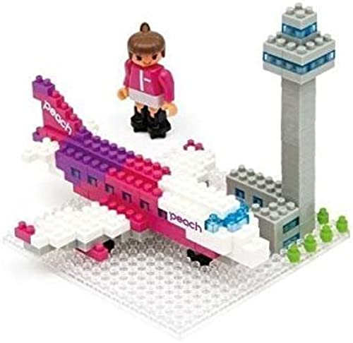 Nanoblock Peach peach Airbus A320 Airport [Limited Edition] nano block (japan import)