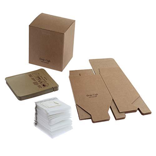 50er Set Kaffeefilterhalter mit 50er Papierfilter und 5er Geschenk-Box für Kaffee-Liebhaber