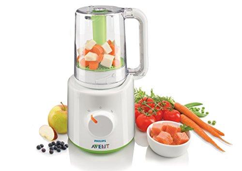 Philips Avent 2-in-1 Babynahrungszubereiter SCF870/20, Dampfgaren und Mixen, 800ml Kapazität, weiß - 2
