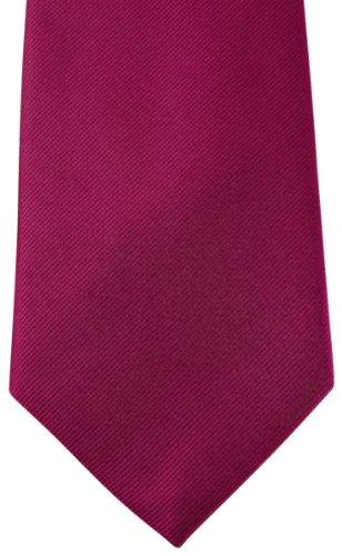 David Van Hagen Cerise Diagonal côtelé cravate de