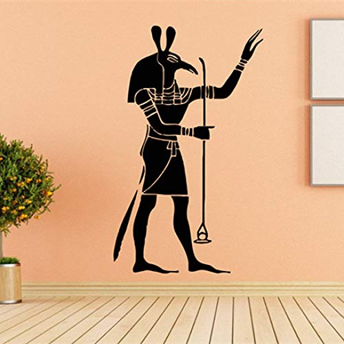 LSMYM Home Decorancient Egypt Decalsgods of Ancient Wall Decalegyptian Mythology Vinilo decorativo antiguo mural cultural azul 42X83cm