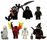LEGO Halloween Vampire, Witch, Ghost, Skeleton, Devil, Grim Reaper, Frankenstein Set - Custom Monster Minifigures