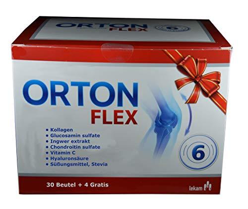 Orton flex, 34 Beutel zum Auflösen, Regeneration des Knorpels, Entzündungen, Schmerzen beheben, 6 Inhaltstoffe für die Gelenke, Monatspackung, Arthrose, arthro pro, arthrostop rapid