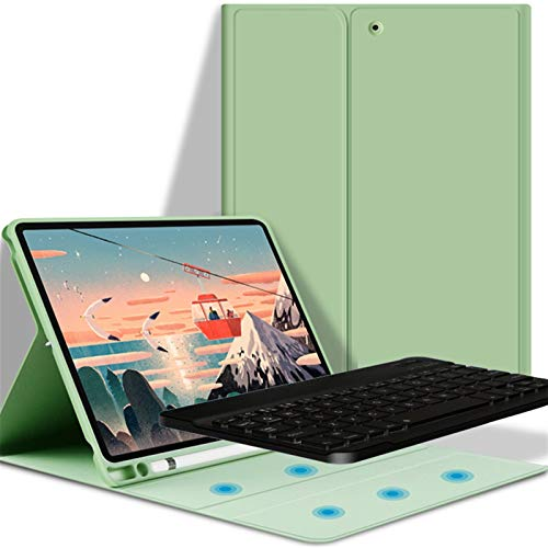 NVFED Case With Bluetooth Keyboard For iPad Air 2 9.7 10.2 7th 8th Air 3 10.5 10.9 Pro 11 2020 Magic Keyboard Cover (Color : Light green 1, Size : IPad Mini 4 5)