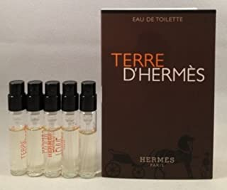 5 Hermes Terre D'hermes EDT Spray Vial Sample .06 Oz/2 Ml Each Lot