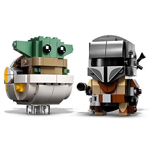LEGO 75317 BrickHeadz Star Wars The Mandalorian & The Child Baby Yoda Collectable Model B