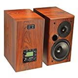 TUNERSYS WiFi Internet Radio Bluetooth 5 inch Bookshelf Speaker- 70W 2 Channel Amplifier Stereo Receiver, Wireless Alarm Clock HD Tuner Component, Home Player Sound Amp Audio Input - WS162B