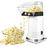 Popcorn Machine,1200W Electric Popcorn Maker with Measuring Cup,BPA Free, Low Fat No Oil Needed Fast Hot Air Popcorn Machine for Home, Family, Party (White)
