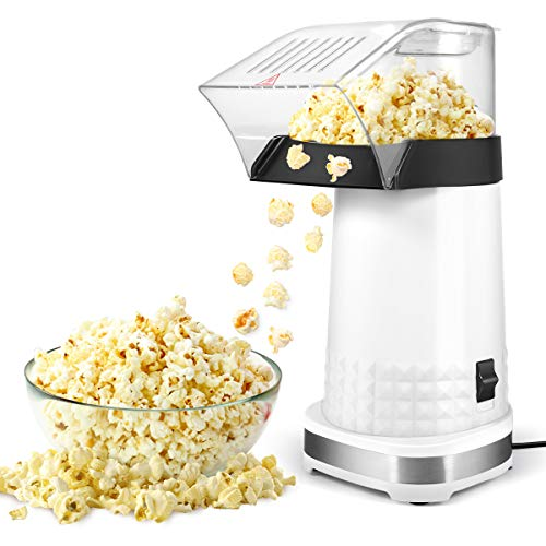 Popcorn Machine,1200W Electric Popcorn Maker with Measuring Cup,BPA Free, Low Fat No Oil Needed Fast...