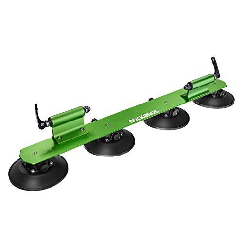 ROCKBROS Baca Portabicicletas de Techo para Bicicleta con Ventosa Instalación Rápida Almacenamiento para 1-3 Bicicletas