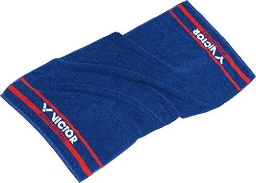 VICTOR Badelaken Handtuch–Blau/Rot/Weiß