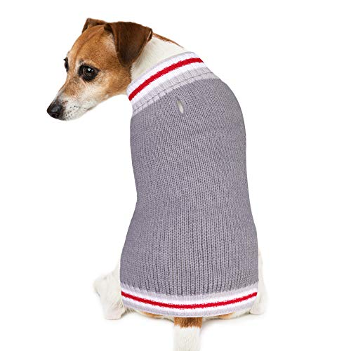 PETBABA Dog Christmas Sweater, Soft Pullover Warm Pet in Snow Weather Cold Winter, Cable Knit Jumper Suitable Xmas Festival Holiday - XXL in Grey