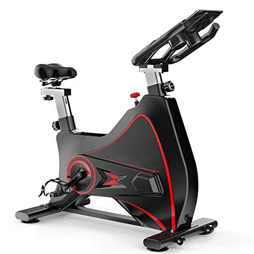 LMZZGAOYANQING Bicicleta de Ejercicio, Bicicleta de Hilado de Capacidad de Peso de 550 Libras estacionaria, Bicicleta de Ciclismo Interior con cómodo cojín de Asiento, Tableta y Monitor LCD,Negro