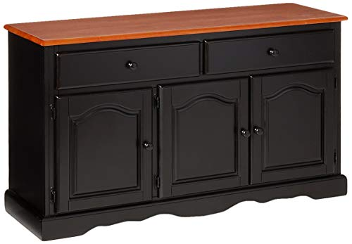 Sunset Trading Black Cherry Selections Buffet, Three Door | Two Drawer, Distressed Antique