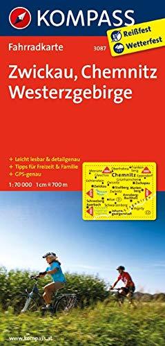 KOMPASS Fahrradkarte Zwickau - Chemnitz - Westerzgebirge: Fahrradkarte. GPS-genau. 1:70000 (KOMPASS-Fahrradkarten Deutschland, Band 3087)
