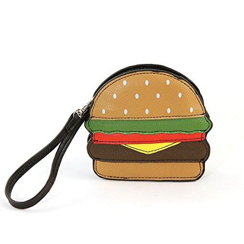 Sleepyville Critters Hamburger Zippered Coin Purse Wristlet
