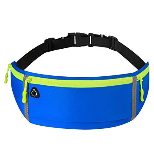 Q-HL Bauchtasche Gürteltasche Gürteltasche, wasserdicht 3 Taschen mit Reißverschluss Laufe Hüfttasche Beutel for Männer Frauen, verstellbare Gürtel Waistpacks for den Außenbereich, Sport, Wandern