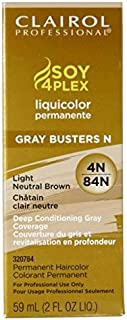 Clairol Professional Liquicolor 4N/84N Light Neutral Brown, 2 oz (Pack of 3)