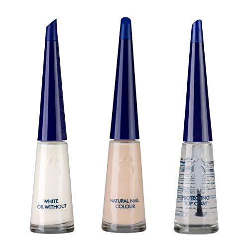 """Herome French Manicure Set Salmon - 3 x10 ml -Een frisse """"natural look"""" in 3 stappen voor een complete make-over van de nagels"""