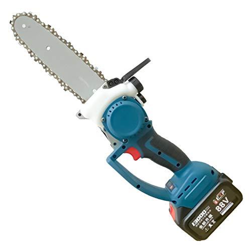 Mini motosierra Mini sierra eléctrica motosierra inalámbrica de mano con cargador y...