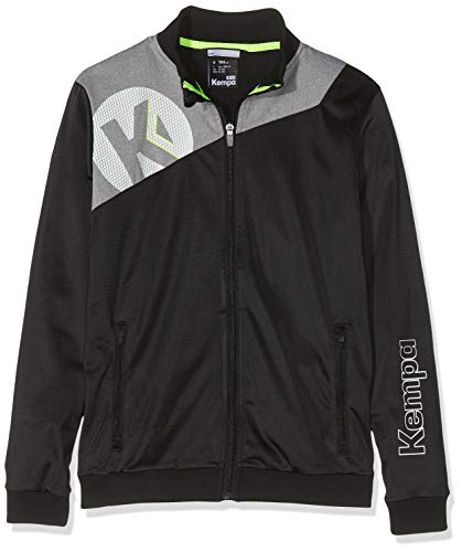 Kempa Kinder CORE 2.0 Poly Jacke Oberbekleidung, schwarz/Dark grau Melange, 116