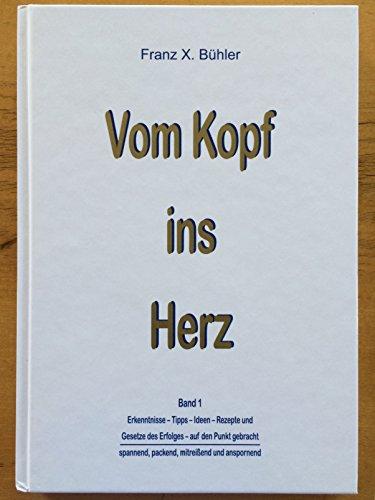 Vom Kopf ins Herz. Band 1. Erkenntnisse, Tipps, Ideen, Rezepte und,Gesetze des Erfolgs, auf den Punkt gebracht. Illustrationen Pierre Bühler.