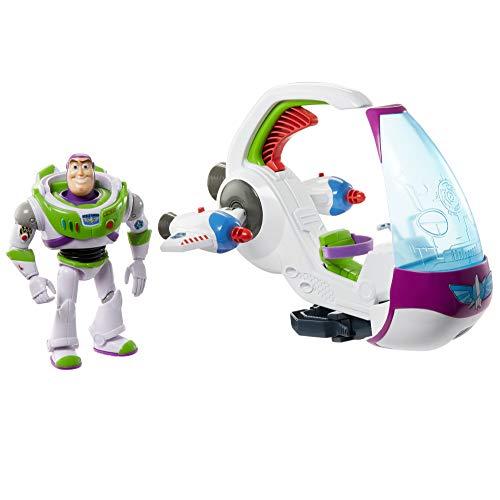 Disney Toy Story Nave Espacial de Buzz Lightyear, nave de juguete con figura de acción (Mattel GRG28)