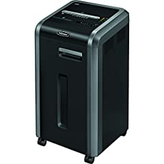 Shreds 20 sheets per pass into 37 (7/32? Security Level P-2) strip-cut pieces; shreds staples, credit cards, paper clips, CDs/DVDs, junk mail Continuous duty motor for non-stop shredding 100% Jam Proof System eliminates paper jams and powers through ...