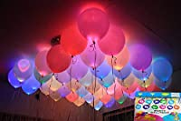 Set of 25 LED balloons assorted colors Simply inflate the balloon like any other balloon. Assorted colors. Ordinary balloon bouquets become radiant plumes for weddings and outdoor events. The balloon lights fit in the neck of inflated balloons, ancho...