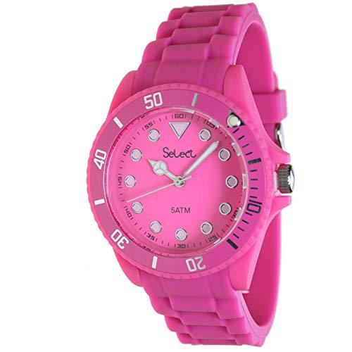 Select Lw-20-10 Reloj Analogico para Chica Caja De Resina Esfera Color Rosa