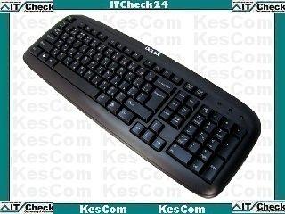 KesCom Tastatur USB von Delux Modell DLK-6100 auch für Win7 oder Windows 8 deutsches Layout in schwarz