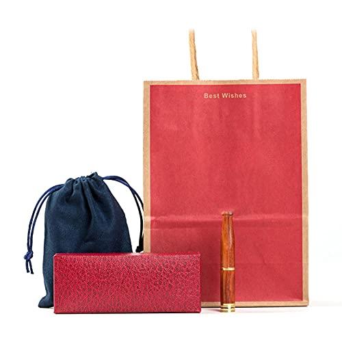 Röd rosenträ cigaretthållare med dubbelt filter, borttagning av tjära, presentförpackning