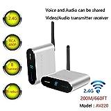 Measy AV220 2.4 GHz wireless AV trasmettitore e ricevitore audio video fino a 200 m/201,2 m