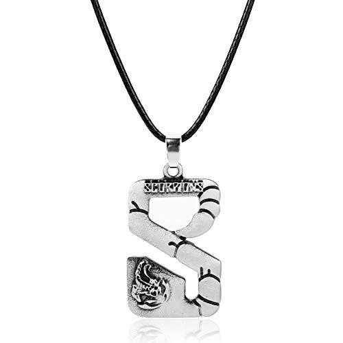 YUNMENG Collar de Escorpiones de Banda de Rock de Moda, Collares de Cadena de Cuerda de Metal para Mujeres, Hombres, joyería de Regalos con dijes