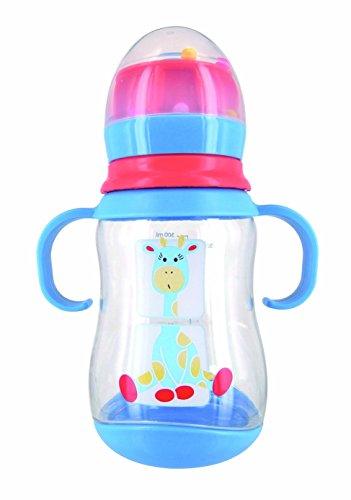 DBB REMOND Biberon Lo 'Girafe ' Tristan 300 Ml Avec Poignées Tétine Silicone 4 Mois + / - System Billes Bleu