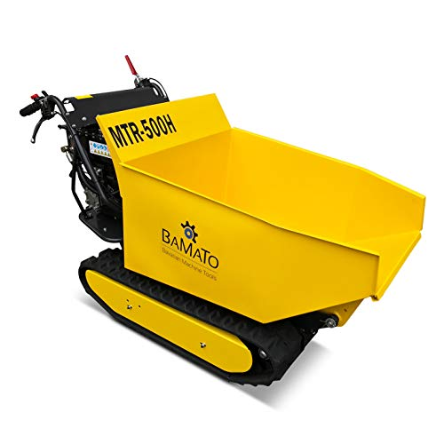BAMATO Mini Raupendumper/MTR-500H / Zuladung: bis 500 kg, 9 PS, mit Kipphydraulik, 3 Vorwärts- und 1 Rückwärtsgang