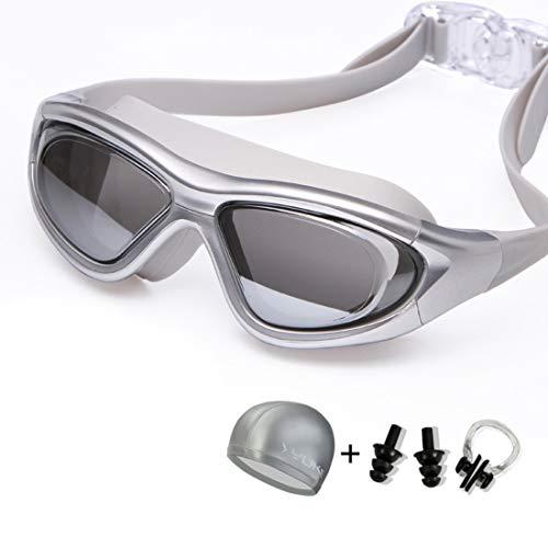 Funytine Goggles HD Anti-mist Waterdichte Big Box Mannen En Vrouwen Zwembril Met Zwemmuts Oordopjes Neus Clip